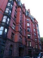red brick townhouse style condo development