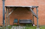 forlorn bench could be sign of community poverty