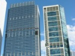 gleaming office tower