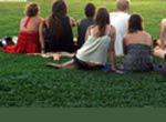 community organization meeting outdoors