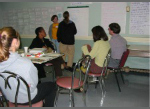group engaged in community planning discussion
