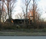 house fallen in on itself