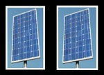 close-up of vertical solar panel
