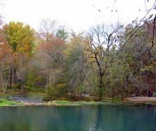 clean lake in park