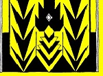 yellow and black Menominee motif