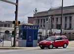 small police substation in a Baltimore neighborhood