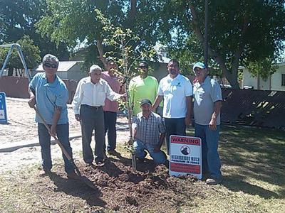 Arbor Day work crew