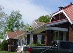 architecturally similar row of homes
