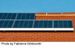 solar array on side of building