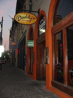 Austin night club area at dusk