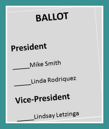 ballot for neighborhood nonprofit board officers