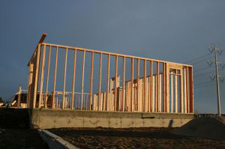 wood framing for new residential development