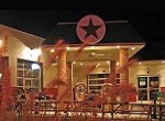 brightly lit restaurant in former Texaco station