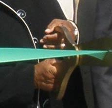 ribbon cutting representing economic development success