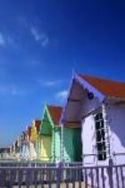 pastel short-term rental cottages