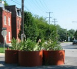 traffic calming barriers mid-street