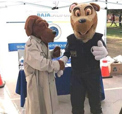 Crime dogs American McGruff and Mexican PEPE meet for first time ever.