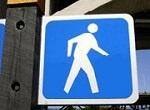 blue walk light