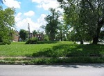 vacant lot in residential neighborhood