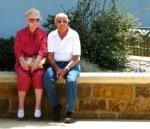 contented elderly couple