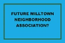 front of card inviting people to meeting about forming a neighborhood organization