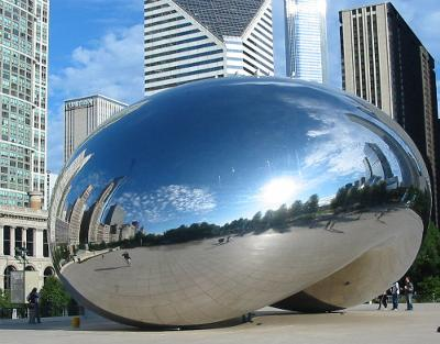 Almost empty Cloud Gate