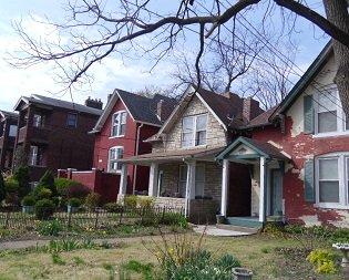 residential block showing varying degrees of maintenance