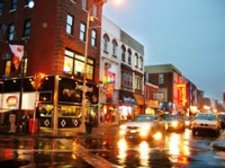 vital night-time business district illustrates successful business attraction