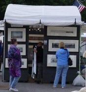 tent at community art fair