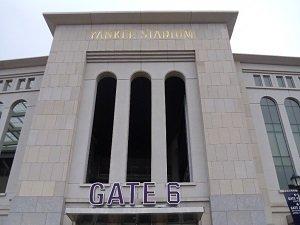 Gate 6 of Yankee Stadium in New York