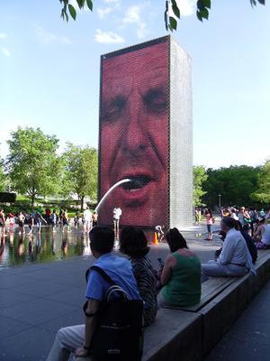 Millennium Park Crown Fountain Chicago