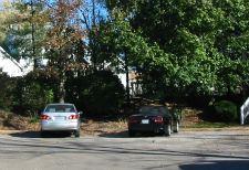 cars parking in suburban cul de sac