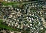 aerial view of sprawl