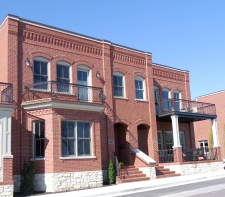 brick buildings funded by government housing grants