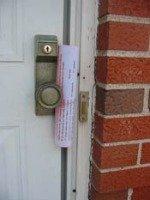 homeowner newsletter in door