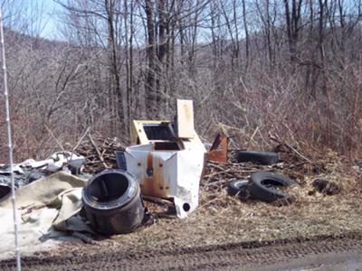 Example of illegal dump site