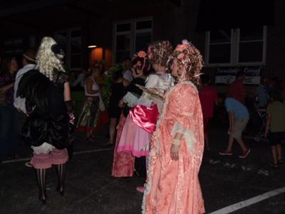 costumed partygoers