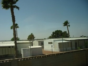 walled manufactured housing park Las Vegas