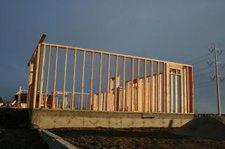 wood framing for new residential development