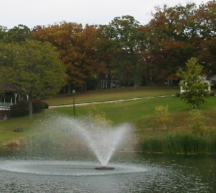 What a pond or lake fountain might look like