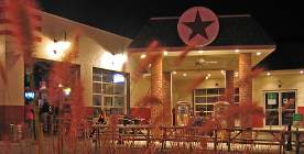 former Texaco gas station building recycled to a restaurant