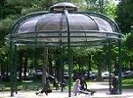 pavilion with numerous children at Parc Monceau Paris