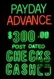 payday loan neon sign
