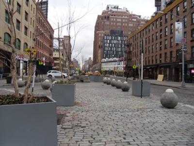 Street Closure Plaza Provides Shade, Visual Interest