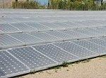large dusty solar array on ground