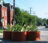 traffic calming planters