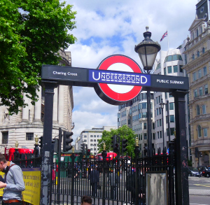Charing Cross Underground London transit entrance