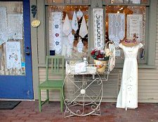 small downtown boutique with outdoor display