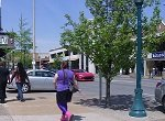 woman walking on an inner suburban street